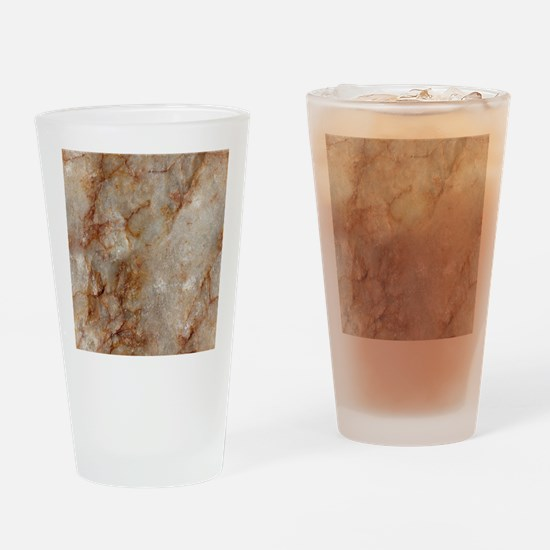 Realistic Brown Faux Marble Stone P Drinking Glass