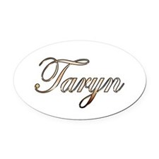 Gold Taryn Oval Car Magnet