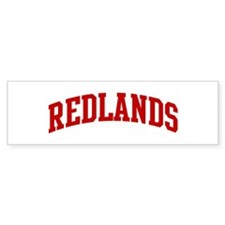 REDLANDS (red) Bumper Bumper Sticker