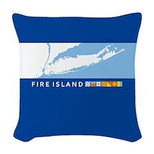 Fire Island - New York. Woven Throw Pillow