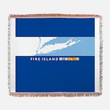 Fire Island - New York. Woven Blanket