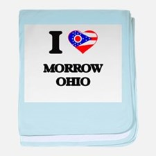 I love Morrow Ohio baby blanket