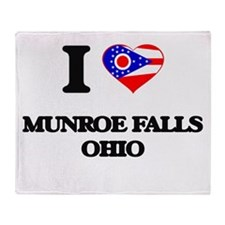 I love Munroe Falls Ohio Throw Blanket