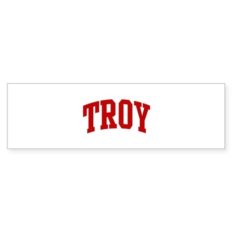 TROY (red) Bumper Sticker