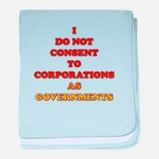No Corporate Governments baby blanket