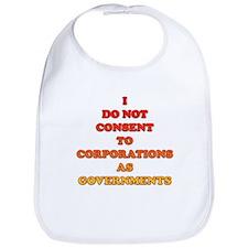 No Corporate Governments Bib