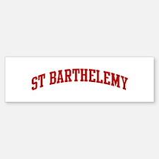 ST BARTHELEMY (red) Bumper Bumper Bumper Sticker