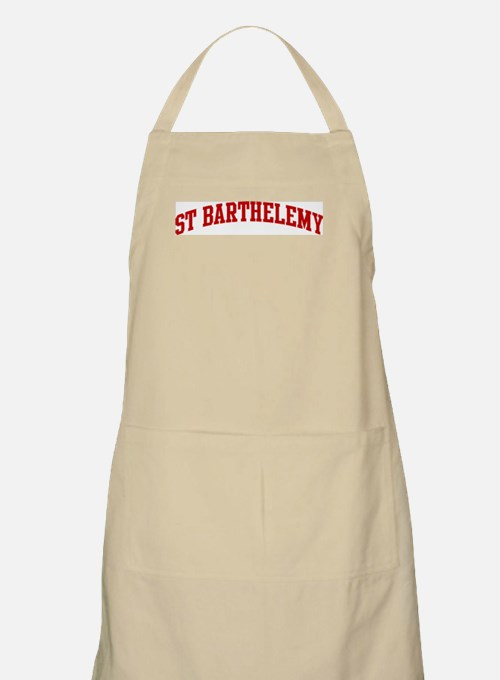 ST BARTHELEMY (red) BBQ Apron