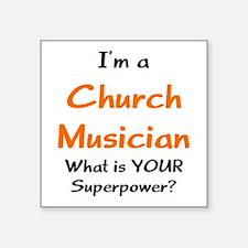 """church musician Square Sticker 3"""" x 3"""""""