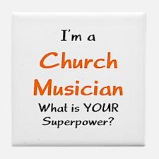 church musician Tile Coaster