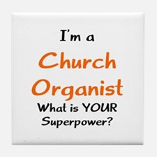 church organist Tile Coaster