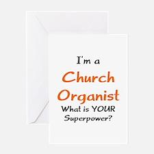 church organist Greeting Card
