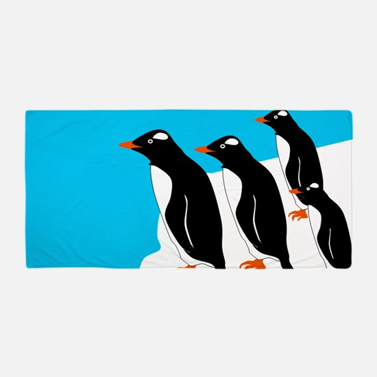 Gentoo Penguins Beach Towel
