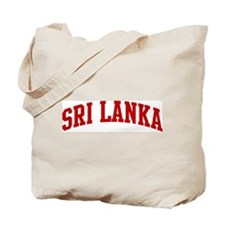 SRI LANKA (red) Tote Bag