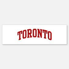 TORONTO (red) Bumper Bumper Bumper Sticker