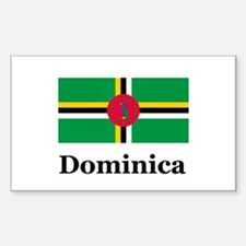 Dominica Rectangle Decal
