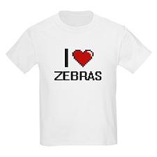I love Zebras Digital Design T-Shirt