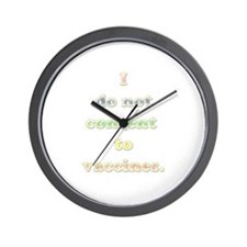 No Vaccines Wall Clock