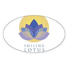 Smiling Lotus Logo Stacked Decal