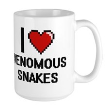 I love Venomous Snakes Digital Design Mugs