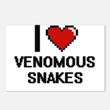 I love Venomous Snakes Di Postcards (Package of 8)