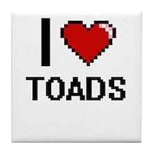 I love Toads Digital Design Tile Coaster