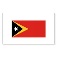 East Timor Flag Rectangle Decal