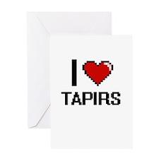 I love Tapirs Digital Design Greeting Cards