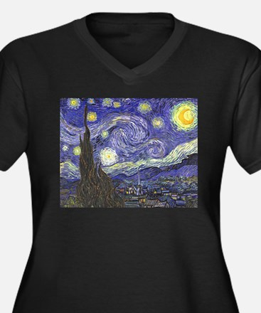 Starry Night by Vincent van Gogh Plus Size T-Shirt