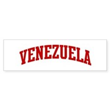 VENEZUELA (red) Bumper Bumper Sticker