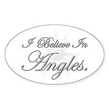Angles Oval Decal