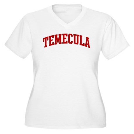 TEMECULA (red) Women's Plus Size V-Neck T-Shirt