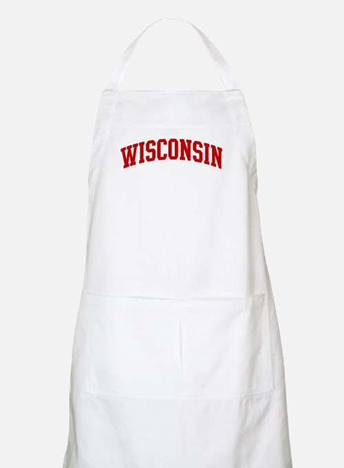 WISCONSIN (red) BBQ Apron