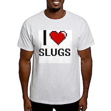 I love Slugs Digital Design T-Shirt