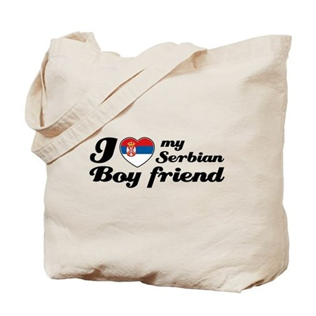 I love my Serbian boy friend Tote Bag