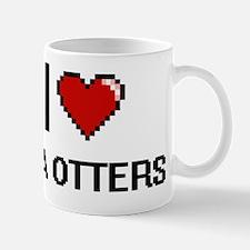 I love Sea Otters Digital Design Mug