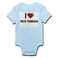 I love Red Pandas Digital Design Body Suit