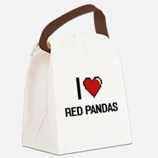 I love Red Pandas Digital Design Canvas Lunch Bag