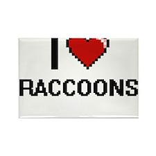 I love Raccoons Digital Design Magnets