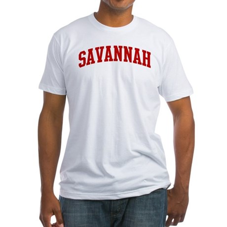 SAVANNAH (red) Fitted T-Shirt