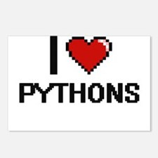 I love Pythons Digital De Postcards (Package of 8)