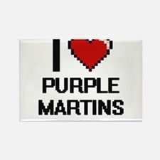 I love Purple Martins Digital Design Magnets