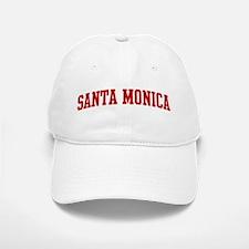 SANTA MONICA (red) Baseball Baseball Cap