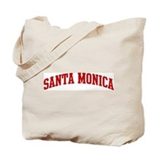 SANTA MONICA (red) Tote Bag