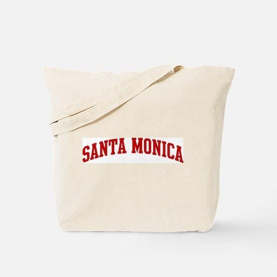 SANTA MONICA (red) Tote Bag