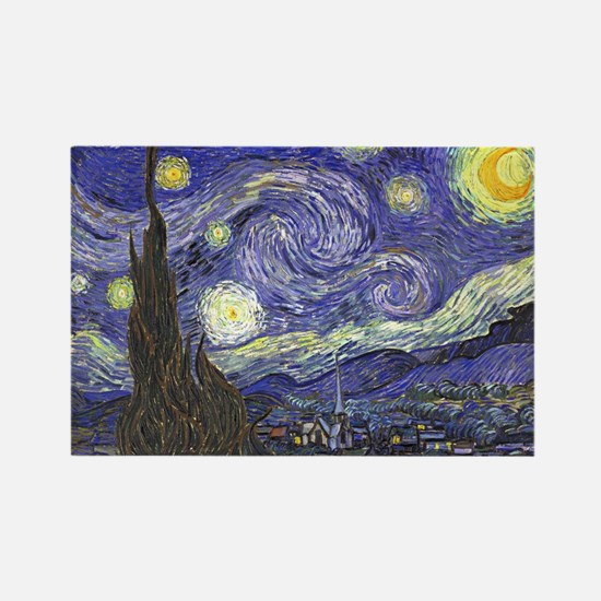 Starry Night by Vincent van Gogh Magnets