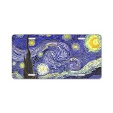 Starry Night by Vincent van Aluminum License Plate