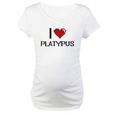 I love Platypus Digital Design Shirt