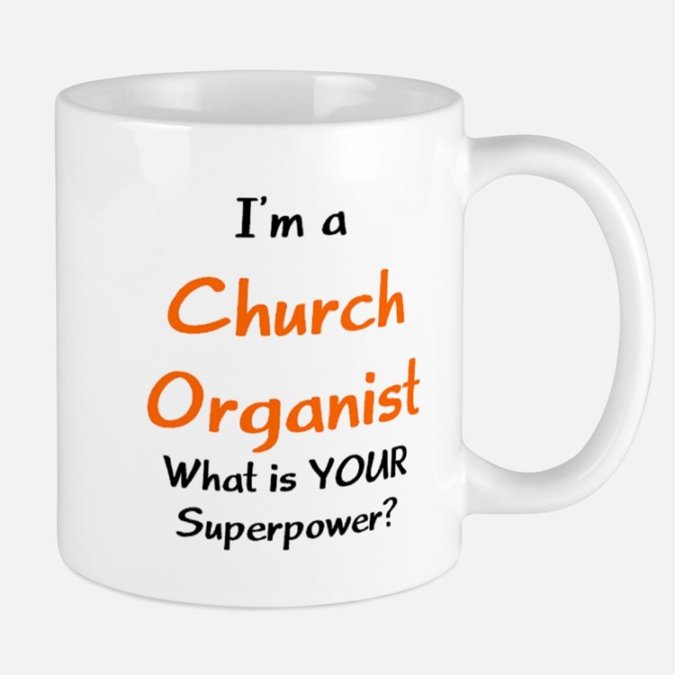 church organist Small Mugs
