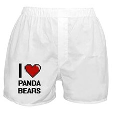 I love Panda Bears Digital Design Boxer Shorts